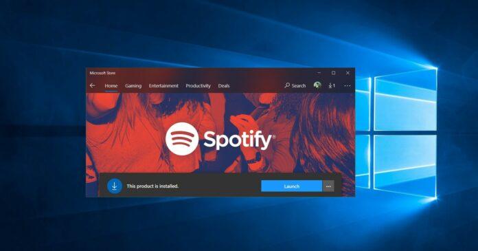 Обновленное приложение Spotify доступно для Windows 10