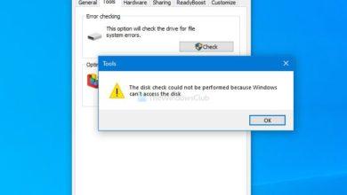 Photo of Не удается запустить проверку диска, поскольку Windows не может получить доступ к диску