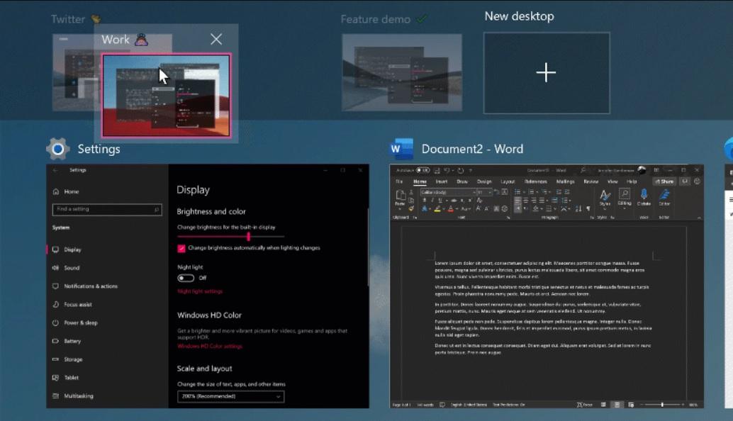 Виртуальные рабочие столы Windows