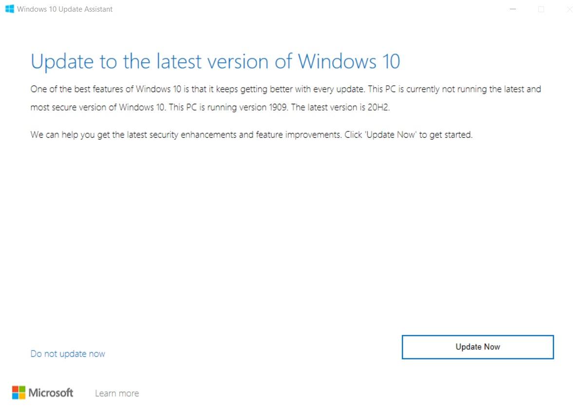 Помощник по обновлению Windows 10