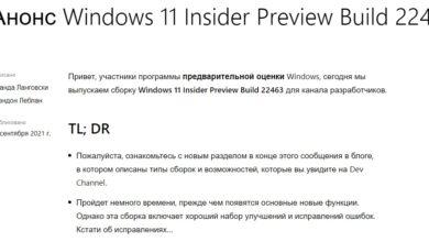 Photo of Windows 11: сборка 22463 для канала Dev