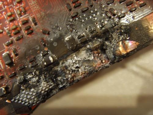 сгоревшая видеокарта