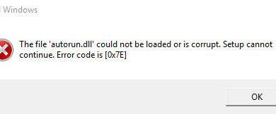 Photo of error 0x7e: Не удается загрузить компонент защиты
