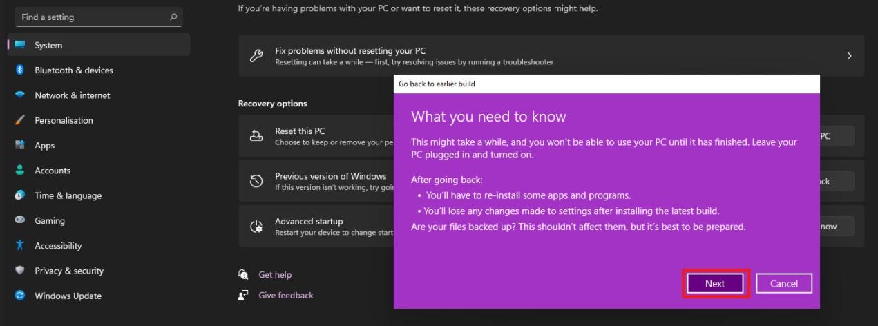 Вернуть Windows 10 c Windows 11