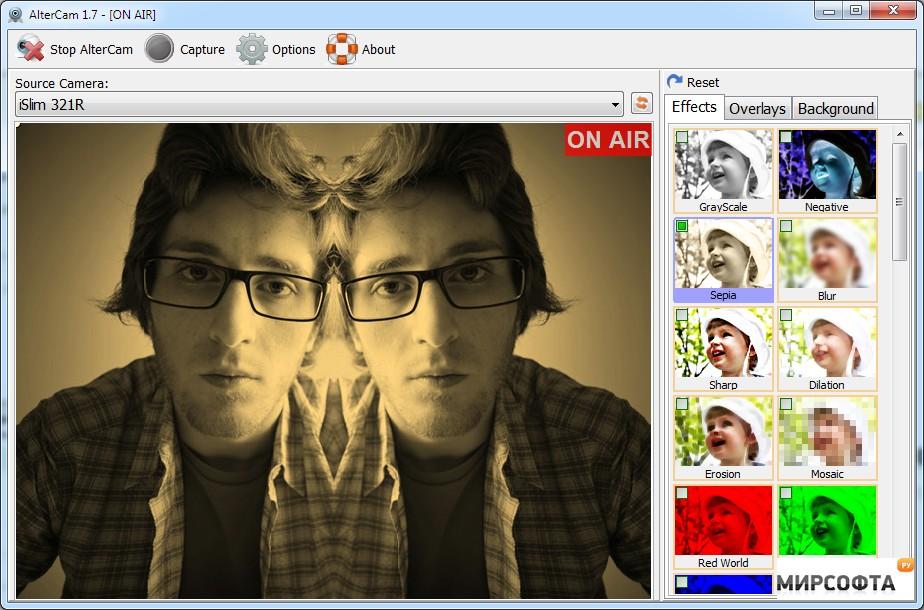 Бесплатная программа для веб камеры AlterCam