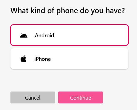 "Настройка приложения ""Ваш телефон"""