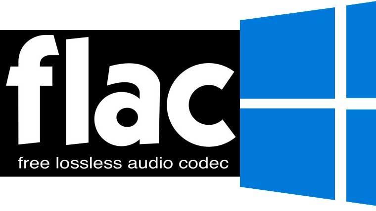 лого flac и windows 10