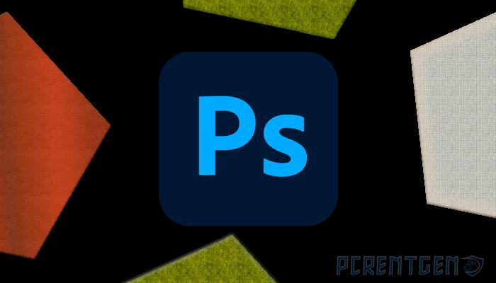 логотип фотошоп на черном фоне
