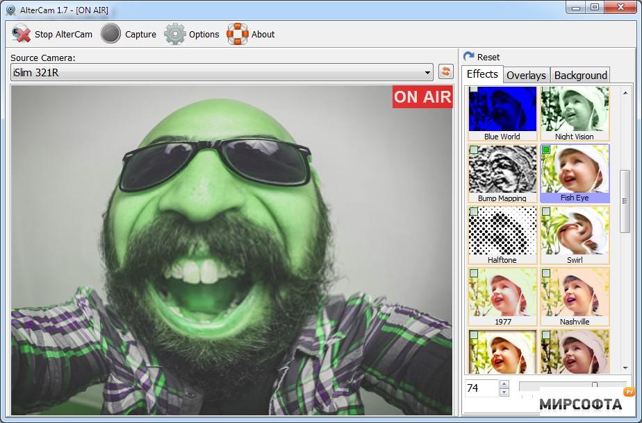 Обзор AlterCam - программа для веб камеры