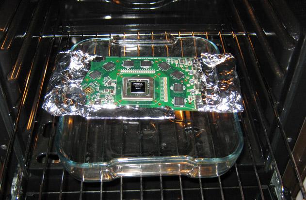 Как прогреть видеокарту в духовке